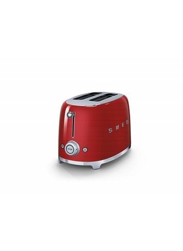 Smeg Tsf01Rdeu Retro Kırmızı 2X2 Slot Ekmek Kızartma Makinesi Kırmızı
